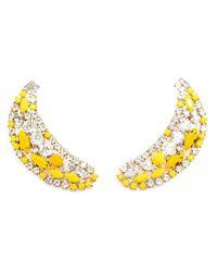 Shourouk | Yellow 'banana' Clip-on Earrings | Lyst