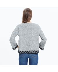 Madewell - Black Reversible Marled Dot Top - Lyst