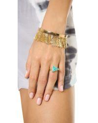 Fallon - Metallic Liquid Fringe Cuff Bracelet Goldgold - Lyst