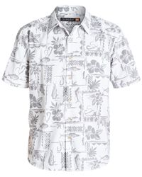 Quiksilver | White Waterman Short-sleeve Seagate Shirt for Men | Lyst