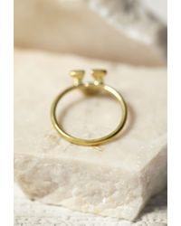 Forever 21 - Metallic Sunahara Horseshoe Lucky Charm Ring - Lyst