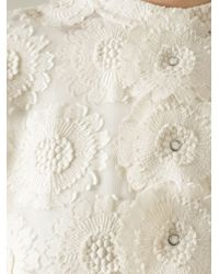 Ermanno Scervino - Natural Floral Embroidered Shirt - Lyst
