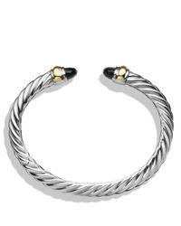 David Yurman | Metallic Waverly Bracelet With Black Onyx & Gold | Lyst