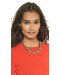 DANNIJO - Metallic Lizzie Necklace - Silver/Crystal - Lyst