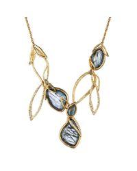 Alexis Bittar - Metallic Phoenix Multi-Stone Leaf Bib Necklace - Lyst