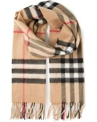 Burberry - Natural Haymarket Check Scarf for Men - Lyst