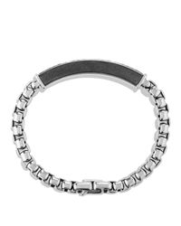 David Yurman | Metallic Pavé Id Bracelet With Gray Sapphires for Men | Lyst