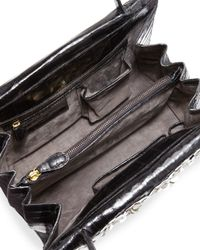 Nancy Gonzalez - Black Floral-embellished Crocodile Tote Bag - Lyst