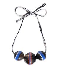 Marni - Blue Ribbon Necklace With Pendant - Lyst