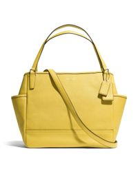 COACH - Yellow Baby Bag Tote in Saffiano Leather - Lyst