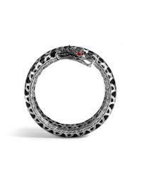 John Hardy - Naga Double Coil Bracelet With Black Sapphire - Lyst