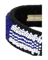 Isabel Marant - Blue Suede Beaded Bracelet - Lyst