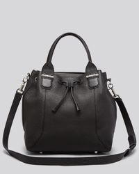 Mackage | Black Satchel - Kiney Drawstring Bucket | Lyst