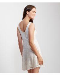 Aéropostale   Natural Lace Fit & Flare Dress   Lyst
