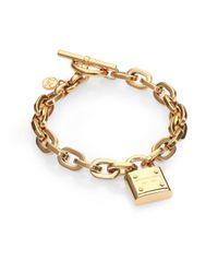 Michael Kors | Metallic Padlock Charm Bracelet/gold | Lyst