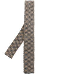 Drumohr - Natural Checked Woven Tie for Men - Lyst