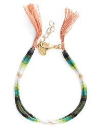 Shashi - Green Ombre Bead Bracelet - Lyst