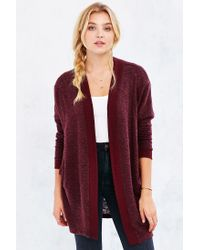 Silence + Noise - Purple Cozy Cardigan - Lyst
