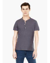 Mango | Gray Henley T-shirt for Men | Lyst