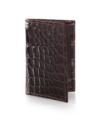 Saks Fifth Avenue | Brown Alligator Card Case for Men | Lyst