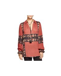 Free People | Red Changing Times Tunic | Lyst