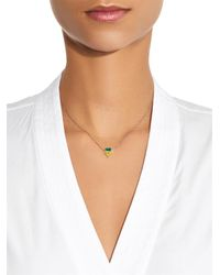 Nikos Koulis | Metallic Yellow-Diamond, Emerald & White-Gold Necklace | Lyst