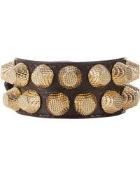 Balenciaga | Brown Arena Two-Row Giant All Stud Bracelet-Colorless | Lyst