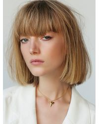 Free People - Metallic Shark Tooth Choker - Lyst