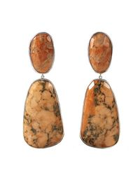 Adornia | Orange Felspar Mercy Earrings | Lyst