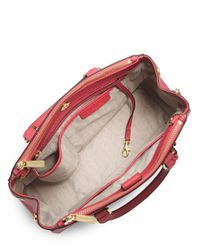 MICHAEL Michael Kors | Red Jet Set Saffiano Leather Tote | Lyst