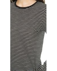 Vince - Feeder Stripe Tee - Black/off White - Lyst