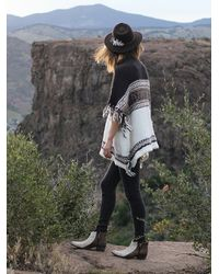 Free People - White Labryinth Poncho - Lyst