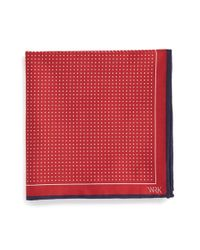 W.r.k. | Red Dot Silk Pocket Square for Men | Lyst
