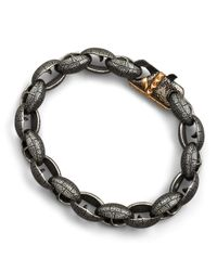 Stephen Webster - Gray Matte Steel Link Bracelet - Lyst