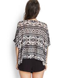 Forever 21 - Gray Southwestern-inspired Sweater - Lyst