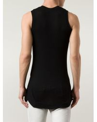 Julius | Black Asymmetrical Long Tank for Men | Lyst