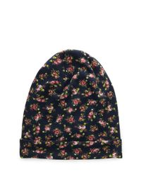 Forever 21 - Multicolor Garden Floral Slouchy Beanie - Lyst
