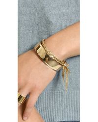 Shashi | Metallic Sasha Bracelet - Gold | Lyst