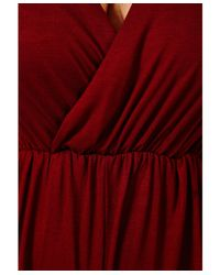 289f8956e3f Missguided Migle Plunge Neck Playsuit in Burgundy in Red - Lyst