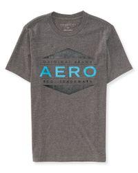 Aéropostale | Gray Aero 1987 Triangle Logo Graphic T for Men | Lyst