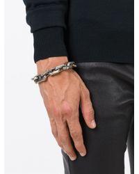 Henson   Metallic Etched Chain Bracelet for Men   Lyst