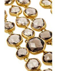 Munnu - Metallic 22-Karat Gold Smokey Quartz Necklace - Lyst