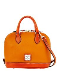 Dooney & Bourke | Orange Bitsy Leather Colorblock Bowler Bag | Lyst