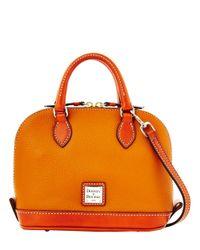 Dooney & Bourke | Orange Bitsy Leather Colorblock Bowler Bag | Lyst