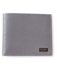 Ferragamo - Gray Billfold Wallet for Men - Lyst