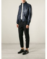 Valentino | Blue 'Rockstud' Bomber Jacket for Men | Lyst