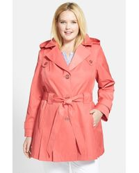 Via Spiga - Pink 'scarpa' Single Breasted Trench Coat - Lyst