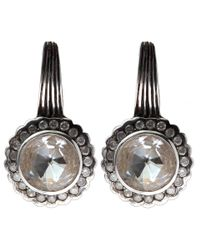 Stephen Dweck | Metallic Silver Rock Crystal And Diamond Scallop Earrings | Lyst