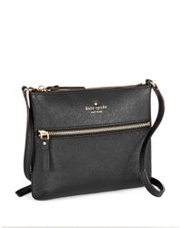 Kate Spade | Black Tenley Leather Crossbody Bag | Lyst