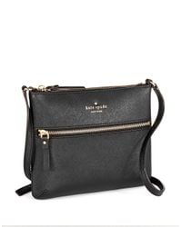 kate spade new york | Black Tenley Leather Crossbody Bag | Lyst